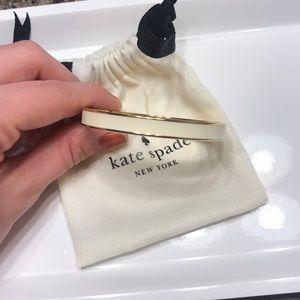 White and Gold Kate Spade Bangle